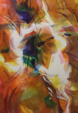 Calore Del Memento 30 x 22 Original Watercolor