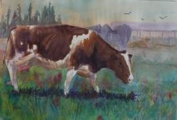 Dairy Queen 15 x 22 Original Watercolor