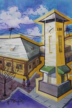 Lodi Depot 22 x 15 Original Watercolor