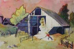 Murphys Barn 15 x 22 Original Watercolor
