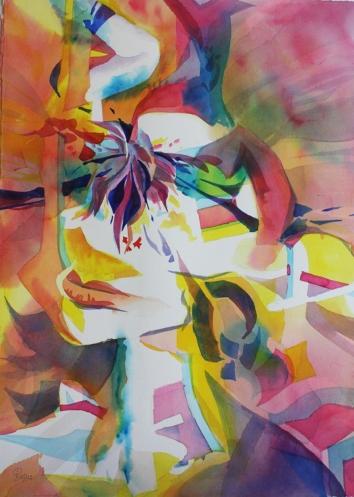 Passione Sciolto e Colorato 30 x 22 Original Watercolor
