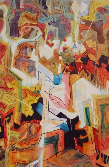 Puzzle di Mostre 36 x 24 x 1.5 Canvas